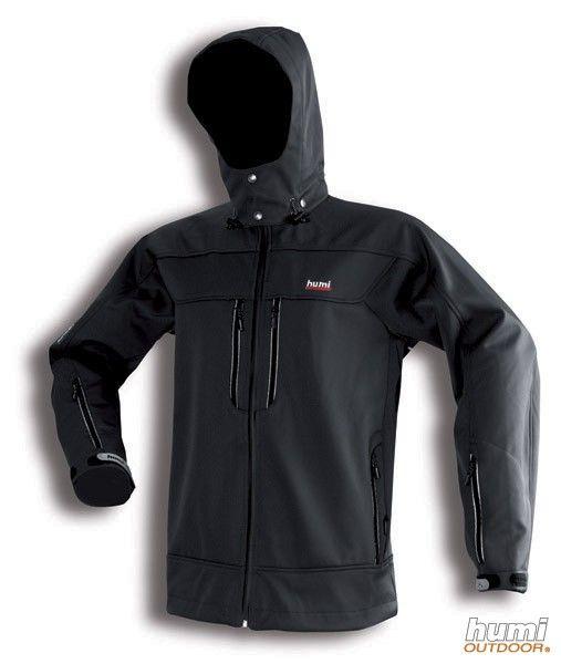 Humi Adamelo II černá lehká softshellová bunda
