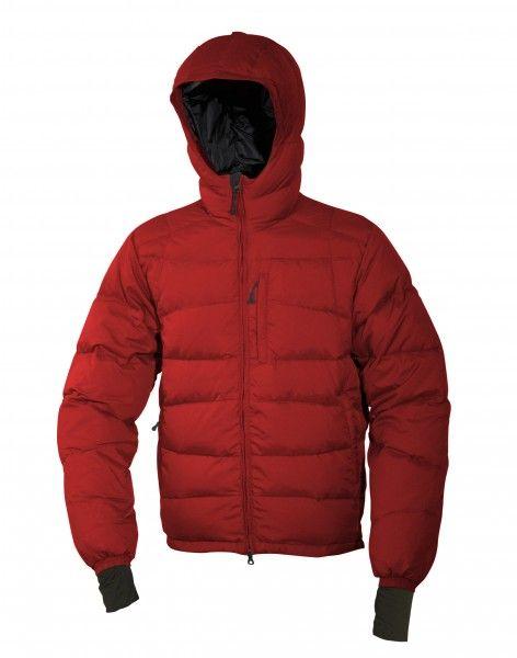 Warmpeace Ascent bunda péřová z materiálu Nylon DWR červená
