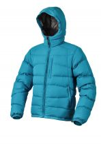 Warmpeace Castor bunda péřová Bay blue - modrá