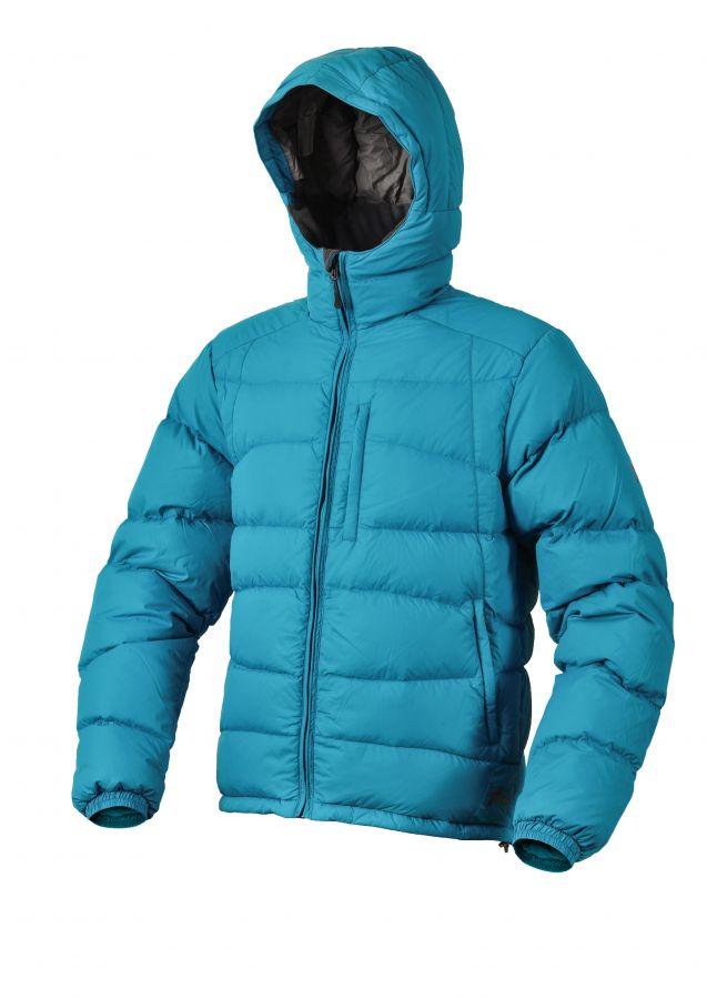 Warmpeace Castor bunda péřová z materiálu Nylon DWR Bay blue - modrá