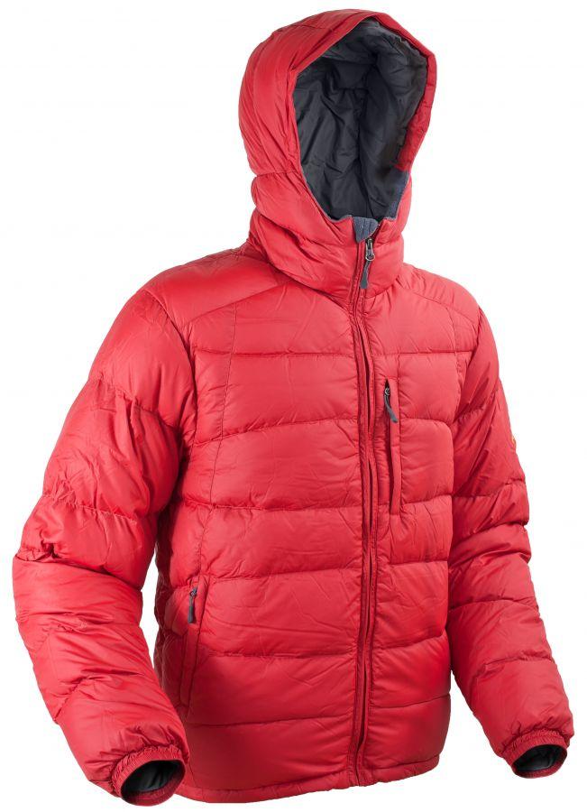 Warmpeace Castor bunda péřová z materiálu Nylon DWR Formula red - červená
