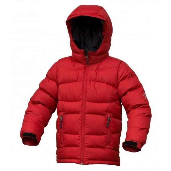 Warmpeace Fox péřová bunda dětská Red wood - červená