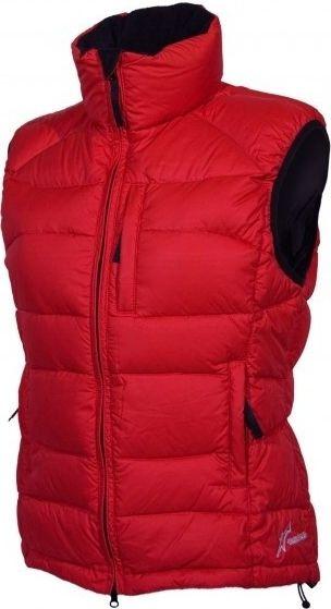 Warmpeace Planet lady péřová vesta červená