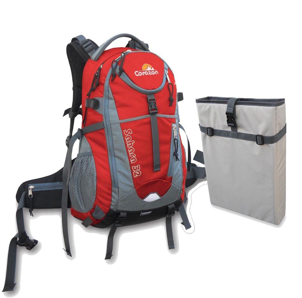 Batoh SAHARA 32 červená + pouzdro na notebook Corazon