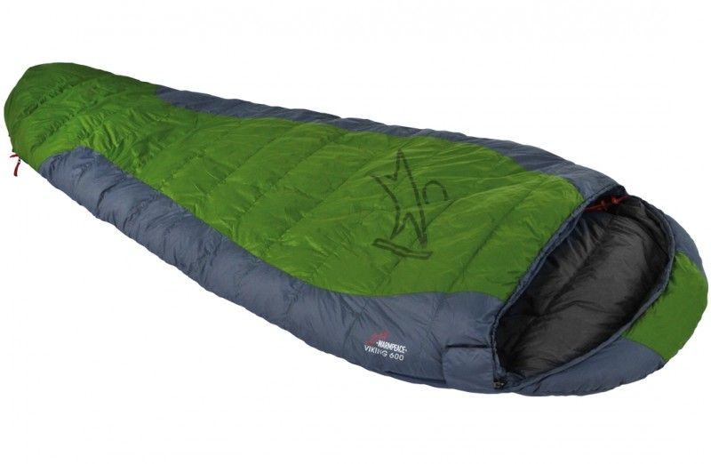 Péřový spacák Warmpeace Viking 600 aloe-steel grey