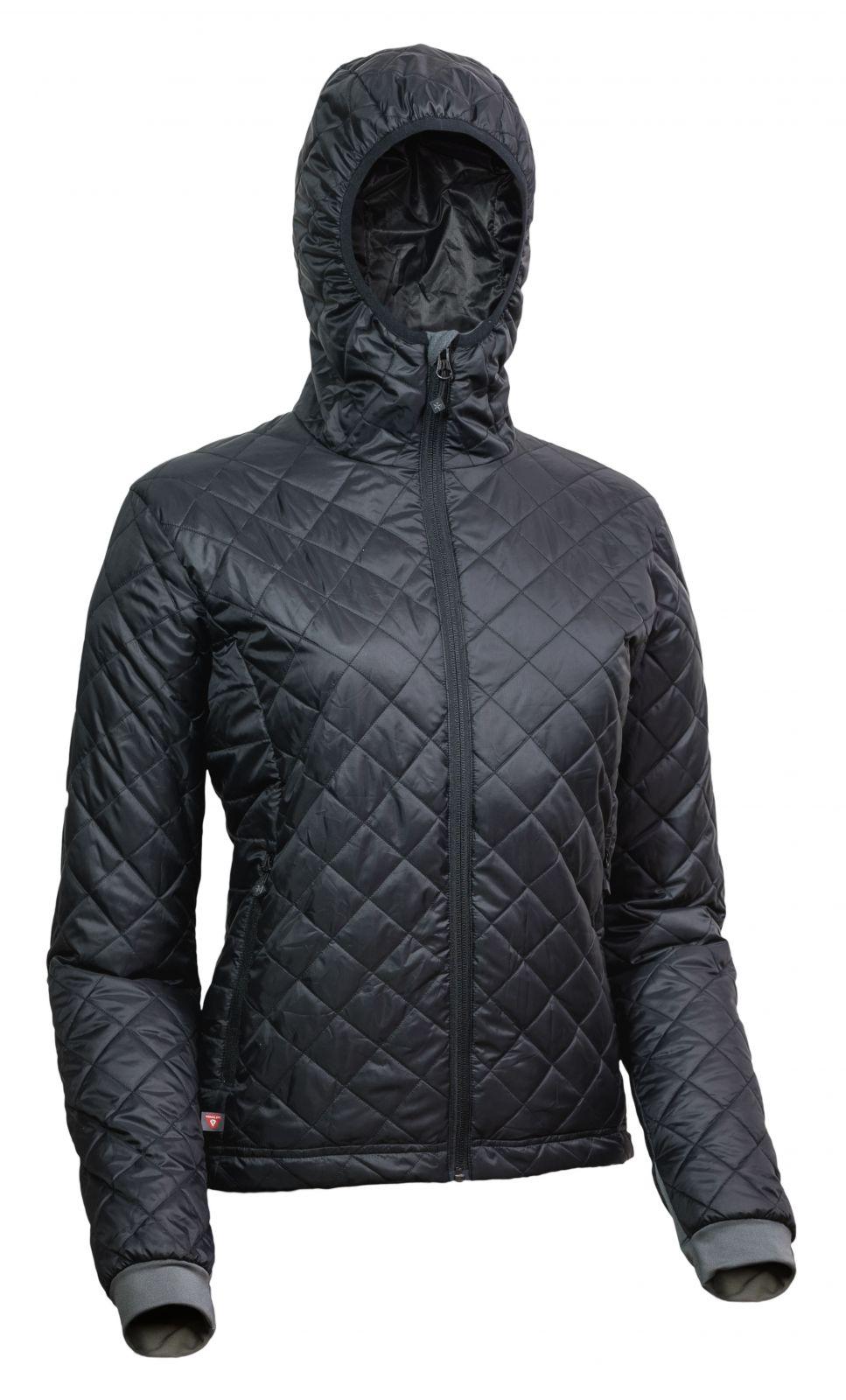 Warmpeace Astra Lady black / black dámská bunda zateplená PrimaLoftem