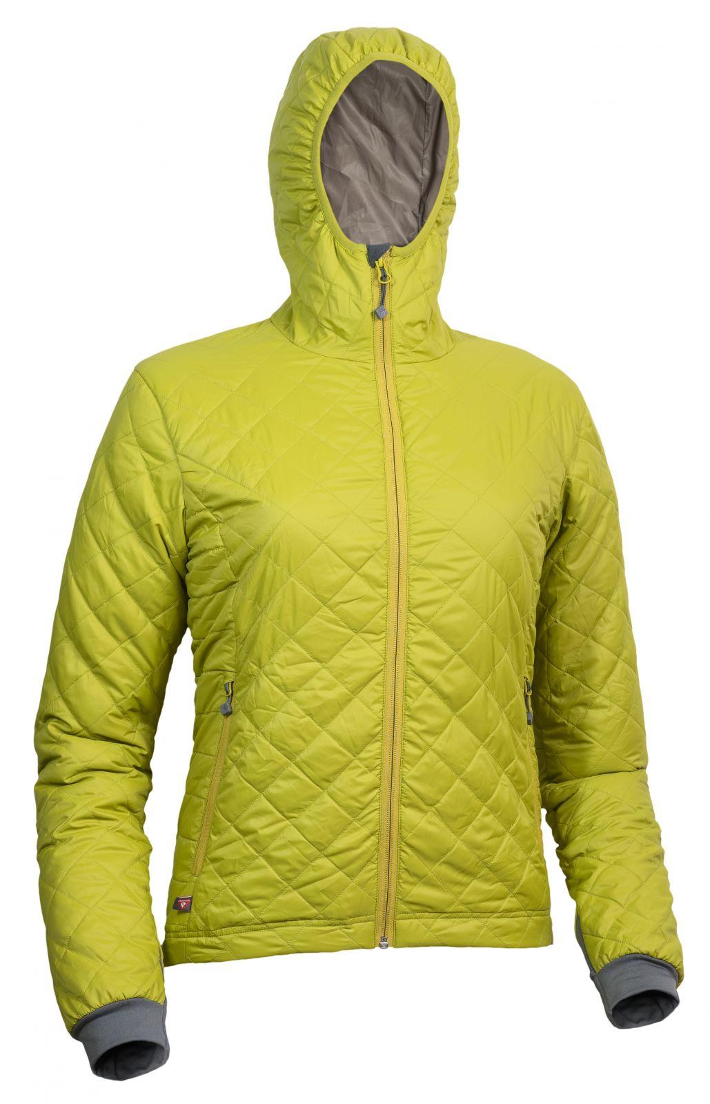 Warmpeace Astra Lady mustard / walnut dámská bunda zateplená PrimaLoftem - S