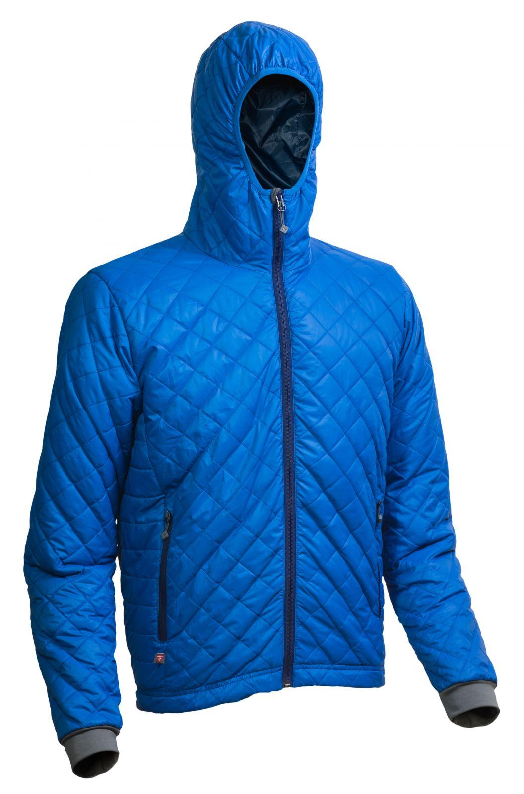 Warmpeace Spirit royal blue / navy pánská bunda zateplená PrimaLoftem