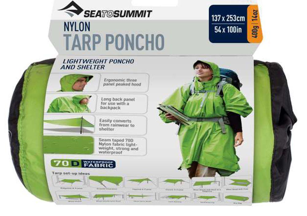 Sea To Summit Nylon 70D Trap Poncho green