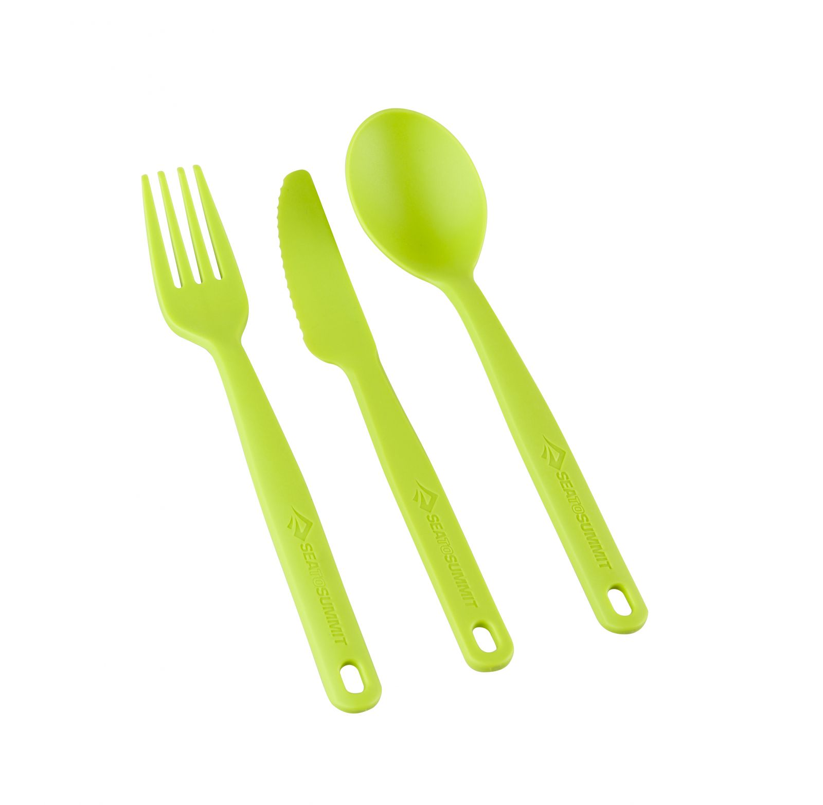 SSea To Summit Camp Cutlery Set lime příbor set na karabině