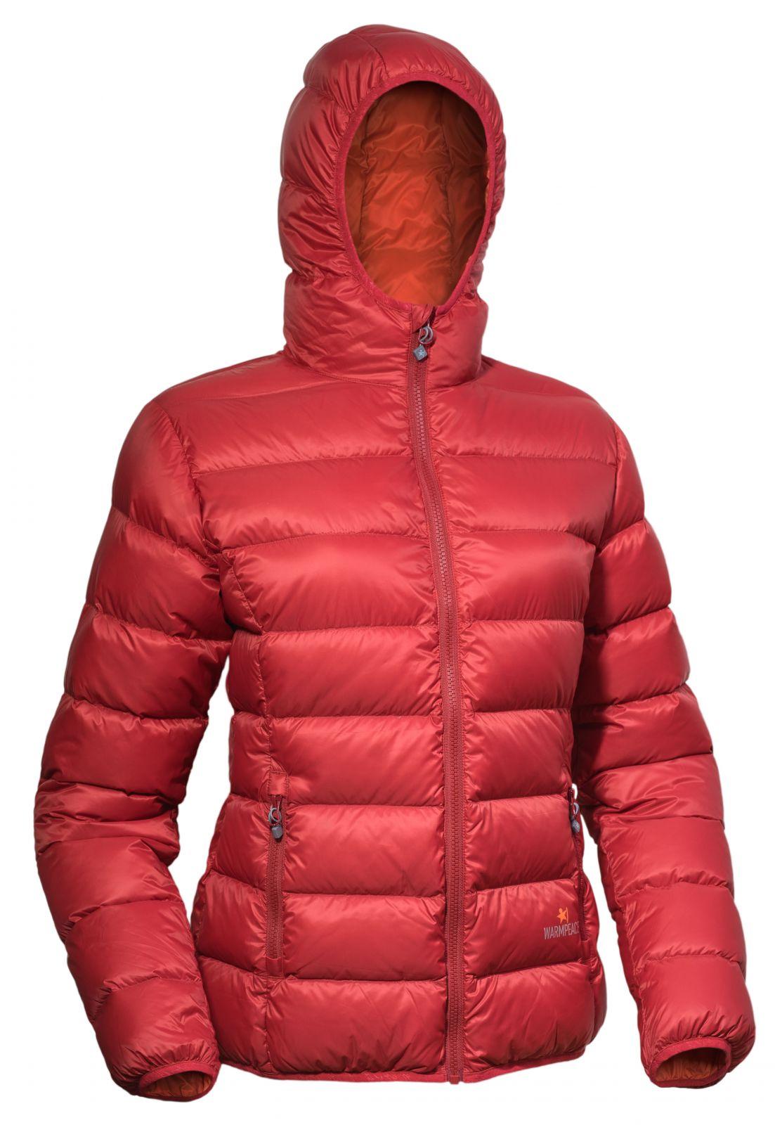 Warmpeace Tacoma lady mars red/orange dámská péřová bunda