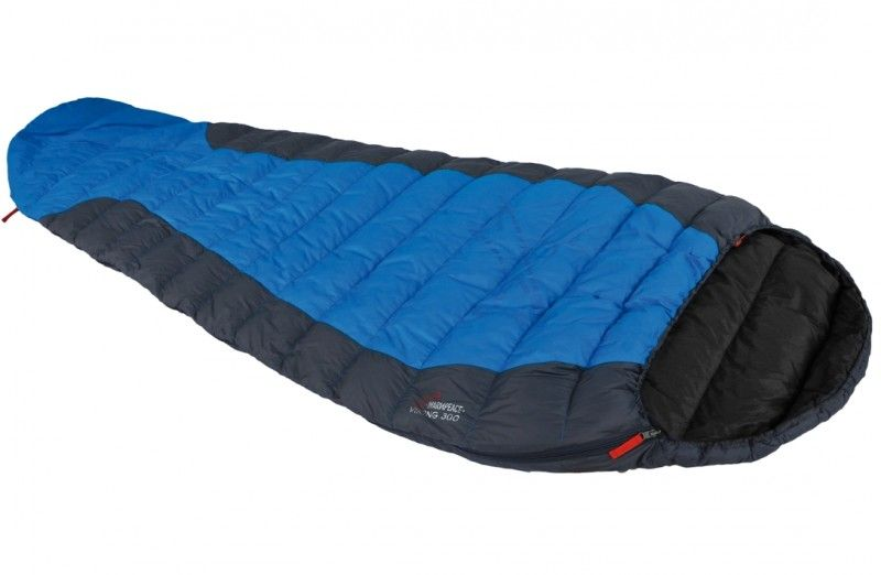 Péřový spacák Warmpeace Viking 300 ocean/grey/black