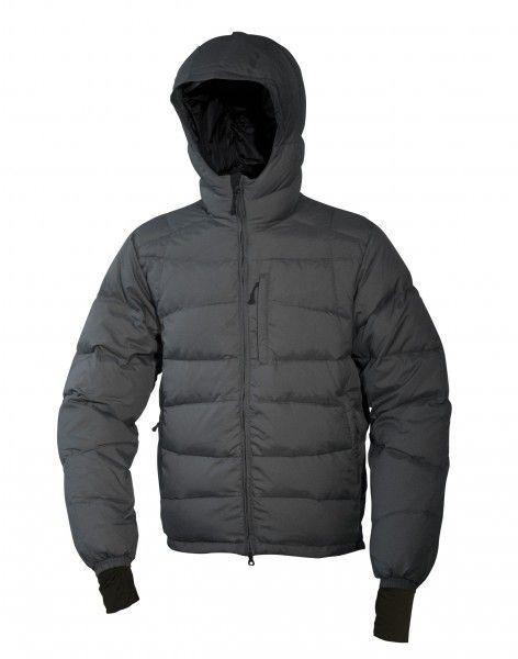 Warmpeace Ascent bunda péřová z materiálu Nylon DWR šedá