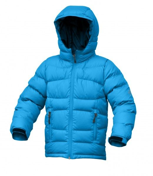 Warmpeace Fox péřová bunda dětská Bay blue - modrá