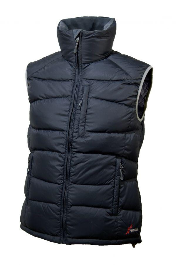 Warmpeace Garda lady péřová vesta Black - černá