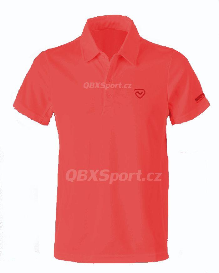 Pánské funkční triko s límečkem Northland Cooldry Gregor Polo Shirt flame