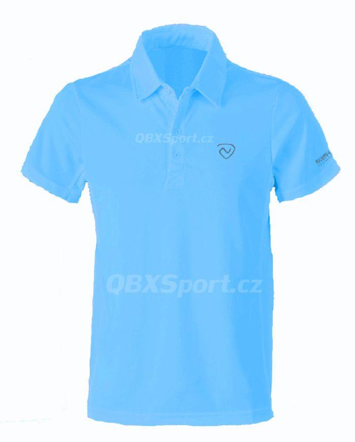 Pánské funkční triko s límečkem Northland Cooldry Gregor Polo Shirt azure blue