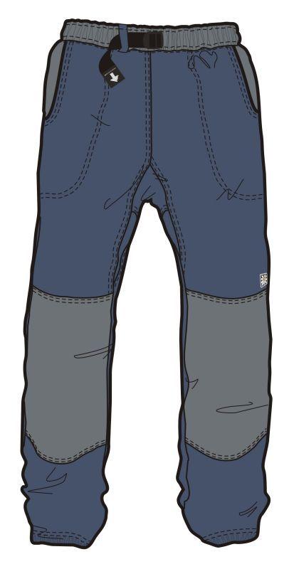 Pánské kalhoty Rejoice Fat Moth šedo / černé