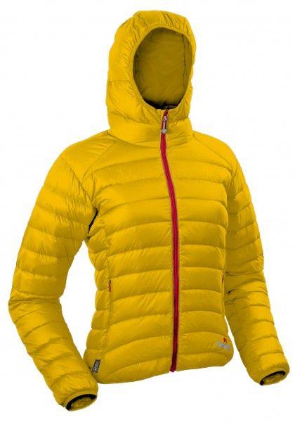 Warmpeace Vikina lady lemon / red dámská péřová bunda
