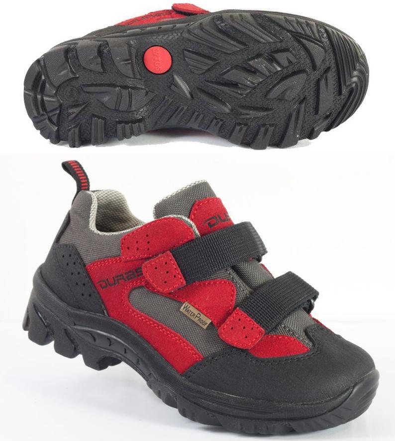 Dětská turistická obuv na suchý zip Duras Tommy Kid red/black