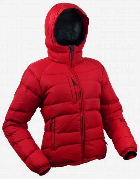 Warmpeace Planet lady péřová bunda červená