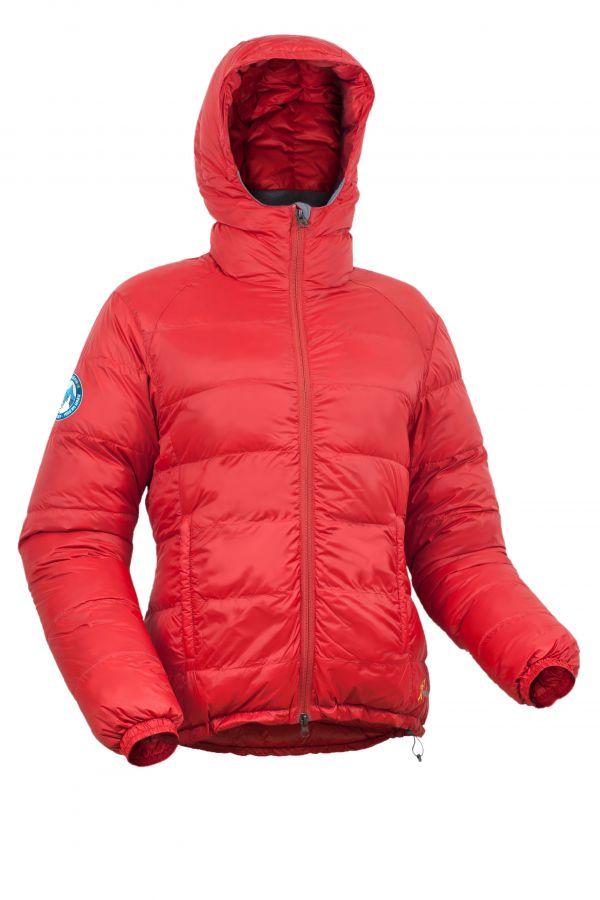 Warmpeace Sierra lady formula red dámská péřová bunda