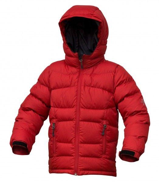 Warmpeace Fox péřová bunda dětská Formula red - červená