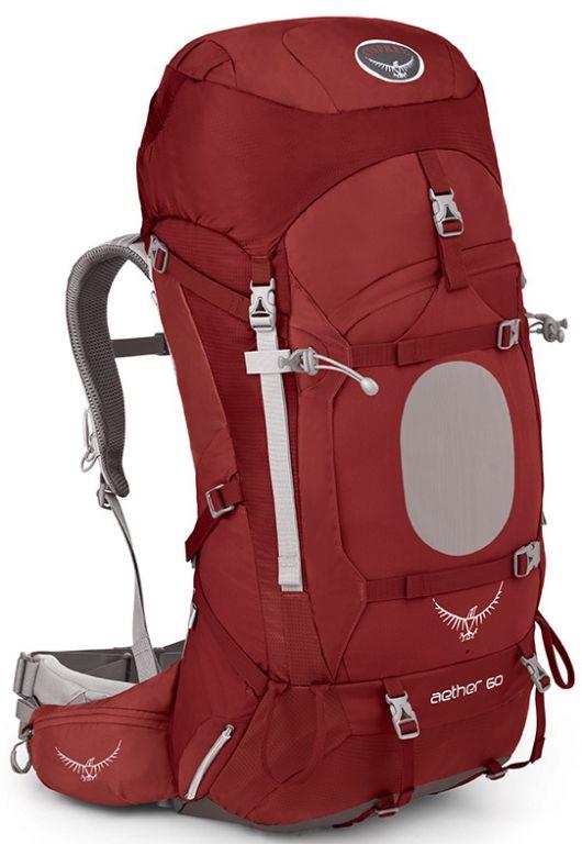 Osprey Aether 60 III Arroyo Red TOP batoh