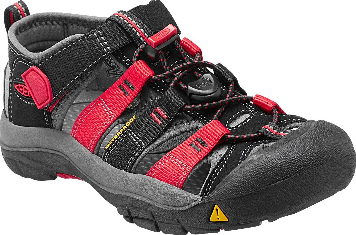 KEEN Newport H2 Junior Black/Racing red multi Dětský sandál