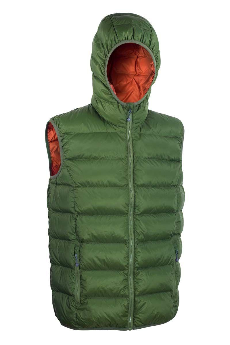 Warmpeace Alamo green/orange péřová vesta