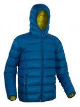 Warmpeace Vernon shadow blue/mustard péřová bunda