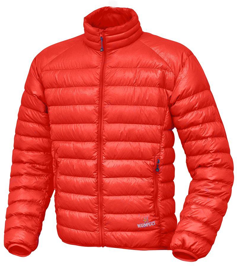 Warmpeace Drake péřová bunda mandarine
