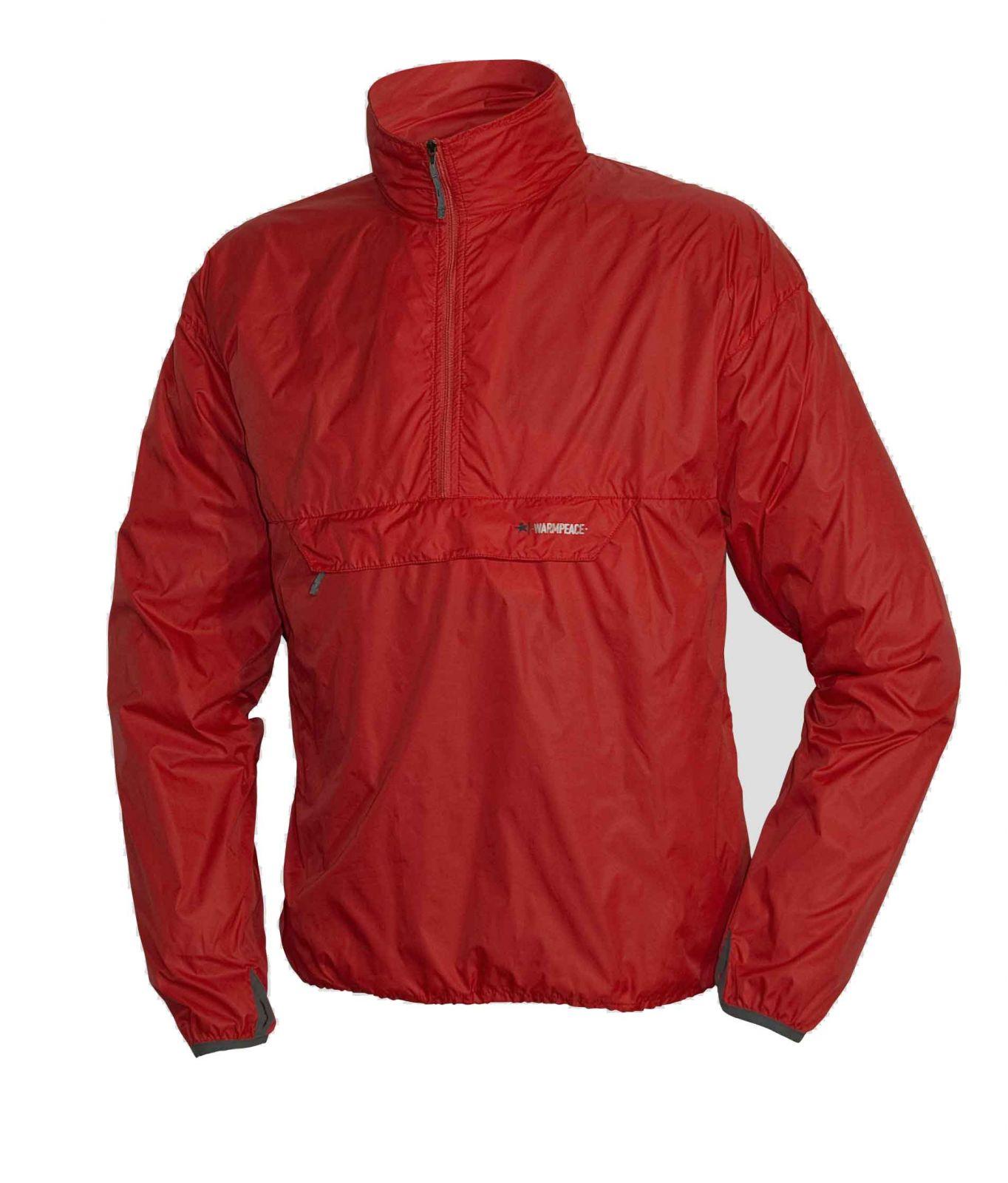 Warmpeace Escape redwood Ultralehká bunda přes hlavu Unisex