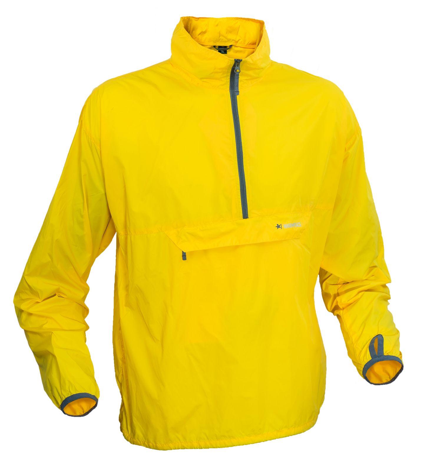 Warmpeace Escape yellow Ultralehká bunda přes hlavu Unisex