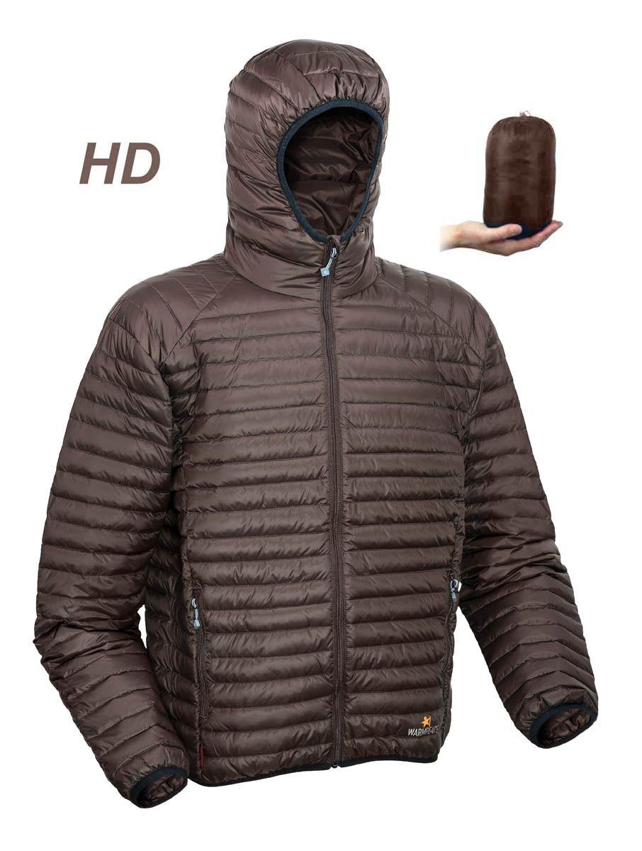 Warmpeace Nordvik HD brown péřová bunda