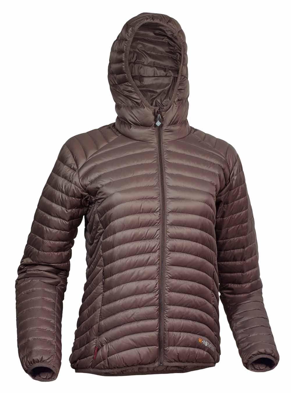 Warmpeace Vikina lady HD brown dámská péřová bunda