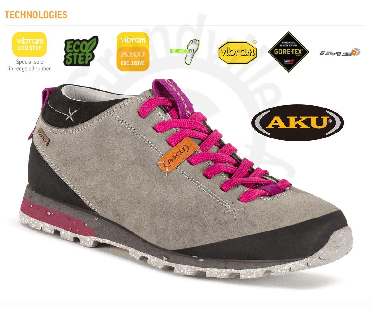 AKU Bellamont Suede GTX Light grey / /Magenta Outdoorová obuv