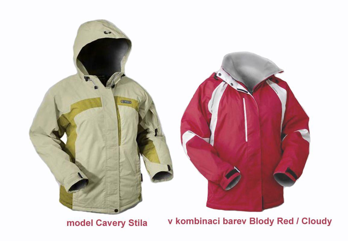 Cavery Stila Blody Red / Cloudy dámská zimní bunda Hannah
