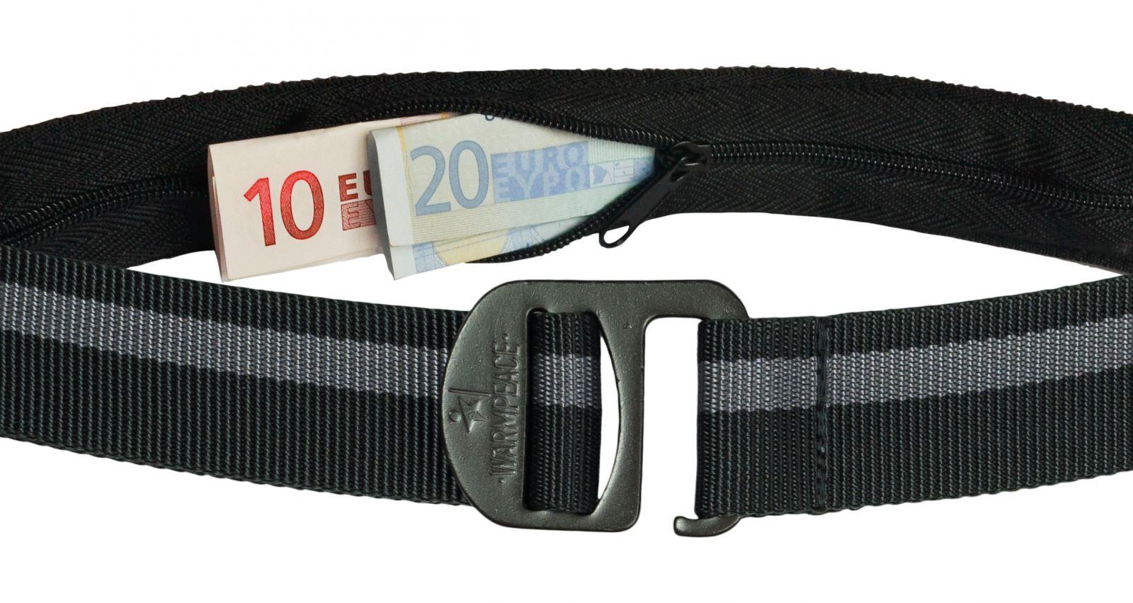 Warmpeace Money Belt iron / grey opasek na bankovky